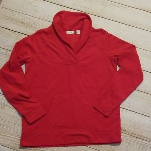 L.L. Bean Red Fleece Pullover